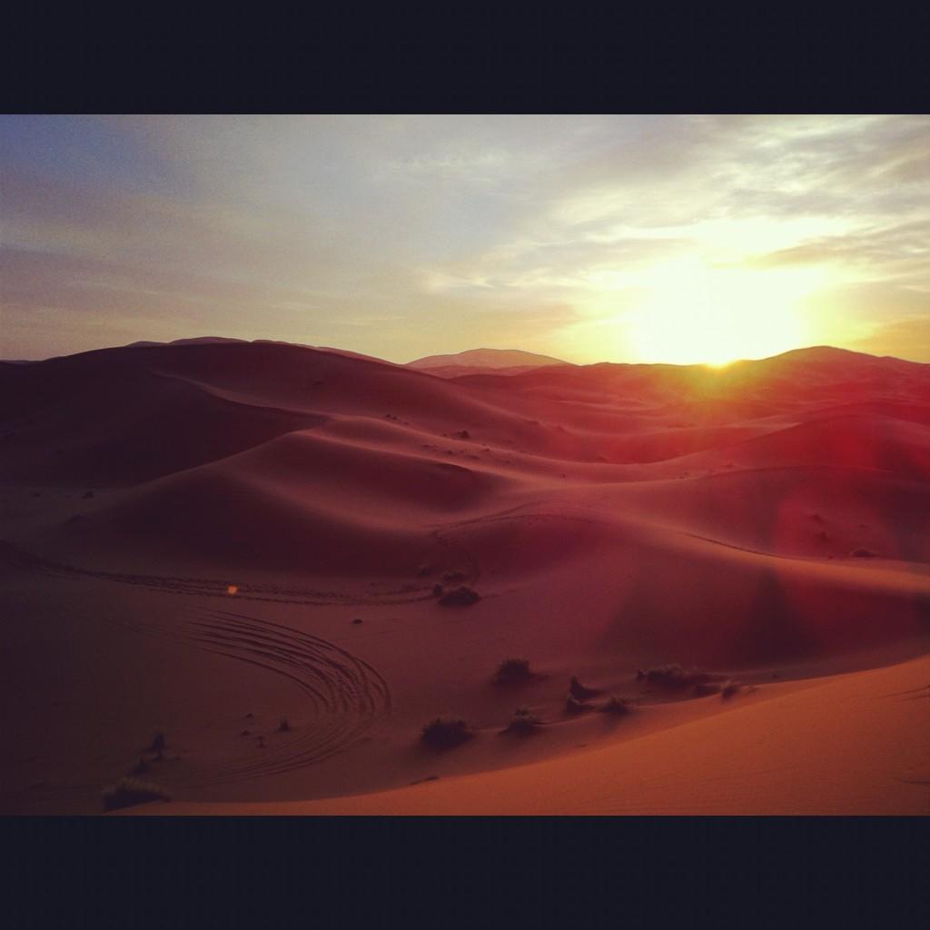dune deserto merzouga marocco alba
