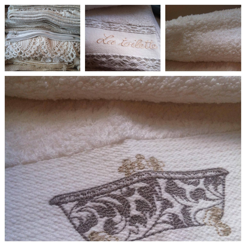 Gli asciugamani appena lavati