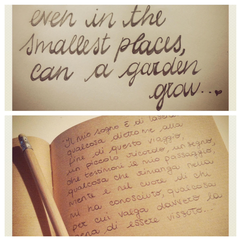 Scrivere le cose a mano con la matita