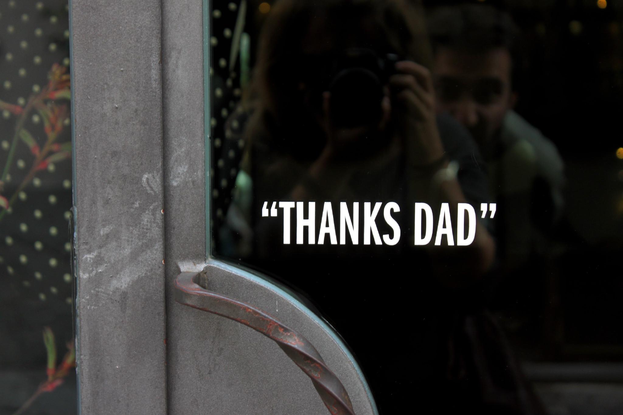 thanks dad, sarzana
