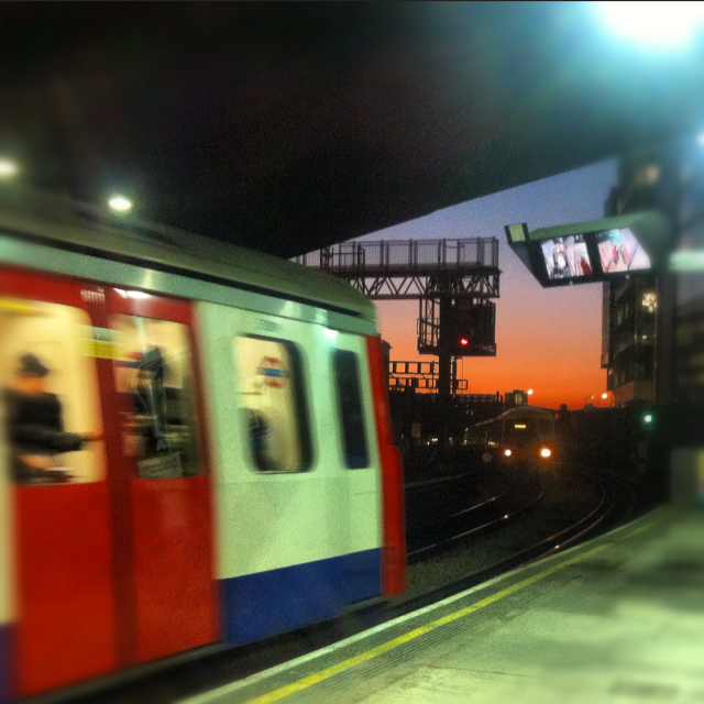 london underground sunset