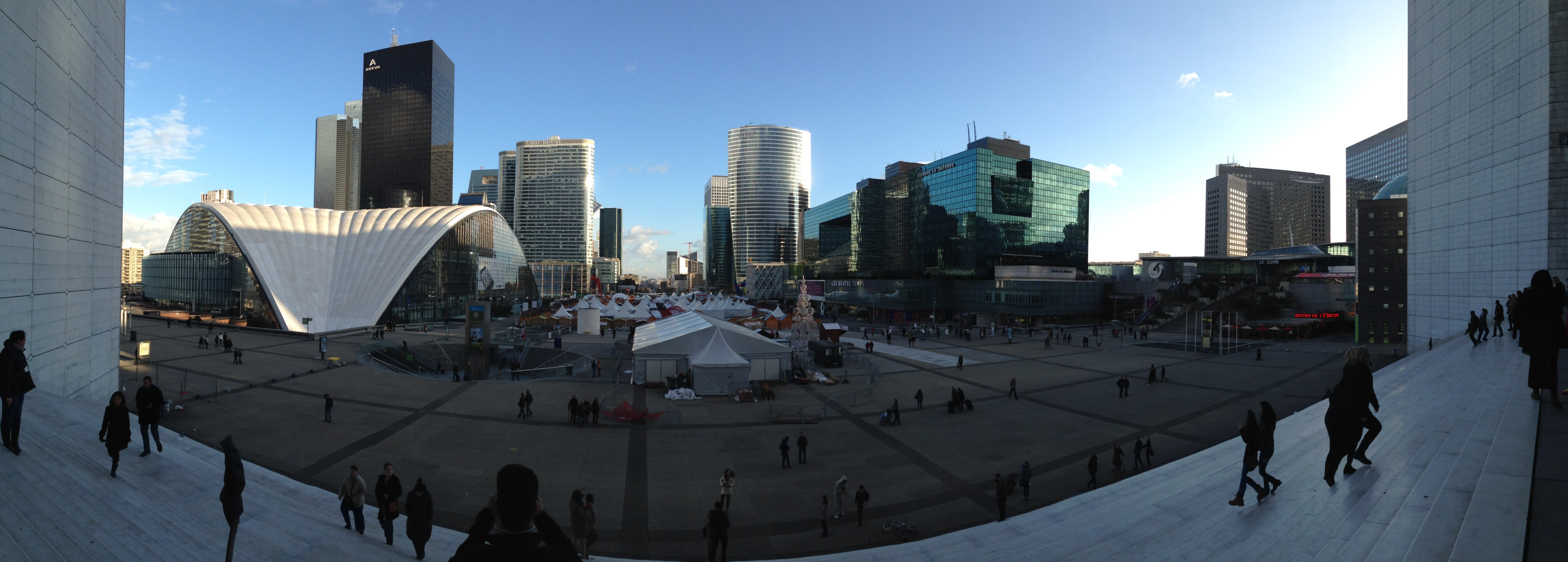 foto panoramica la defense parigi