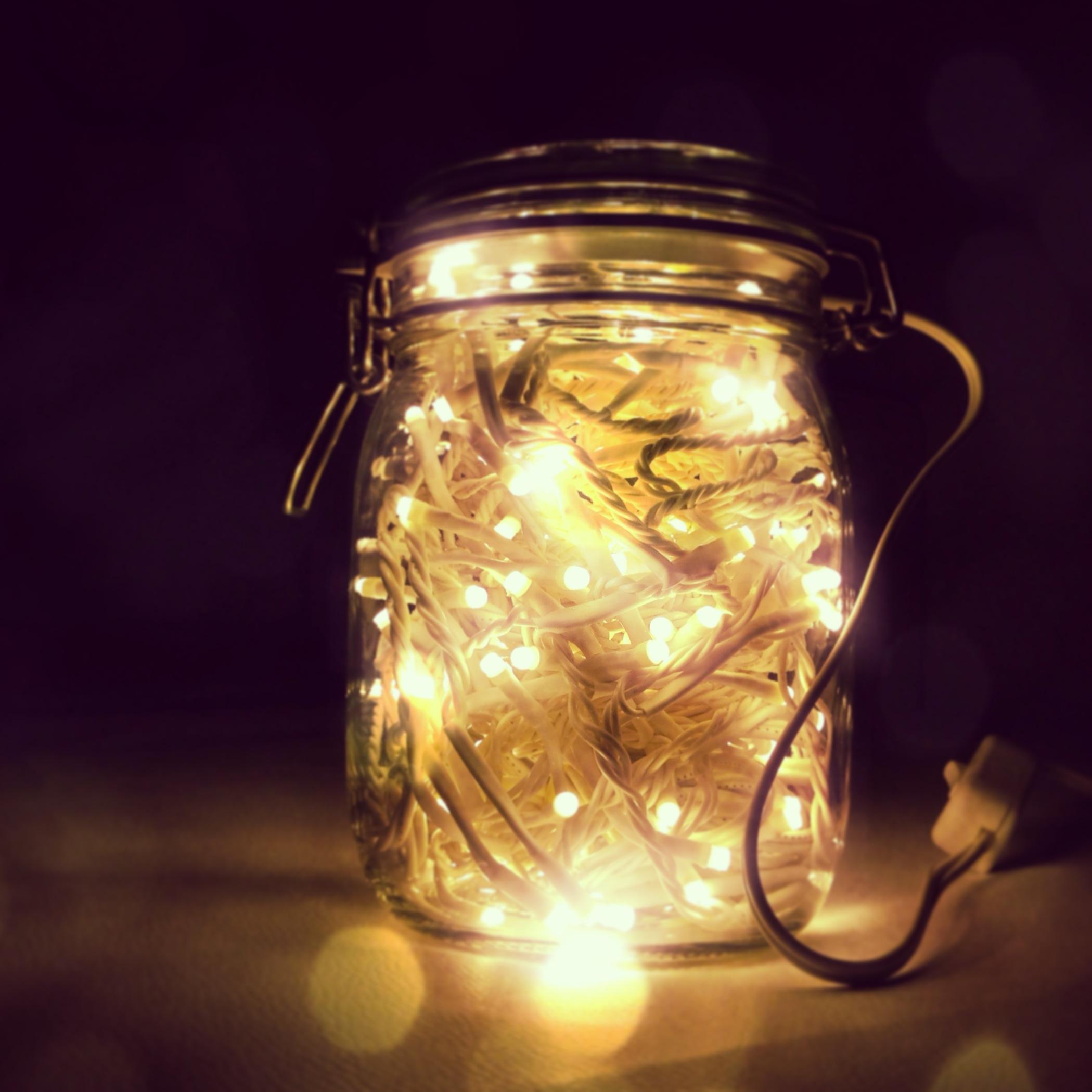 abat-jour lucine natale lampada barattolo