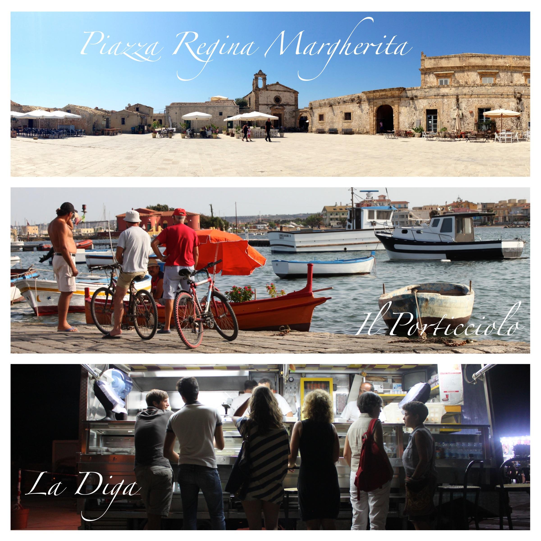 piazza regina margherita, porticciolo, la diga, marzamemi, sicilia