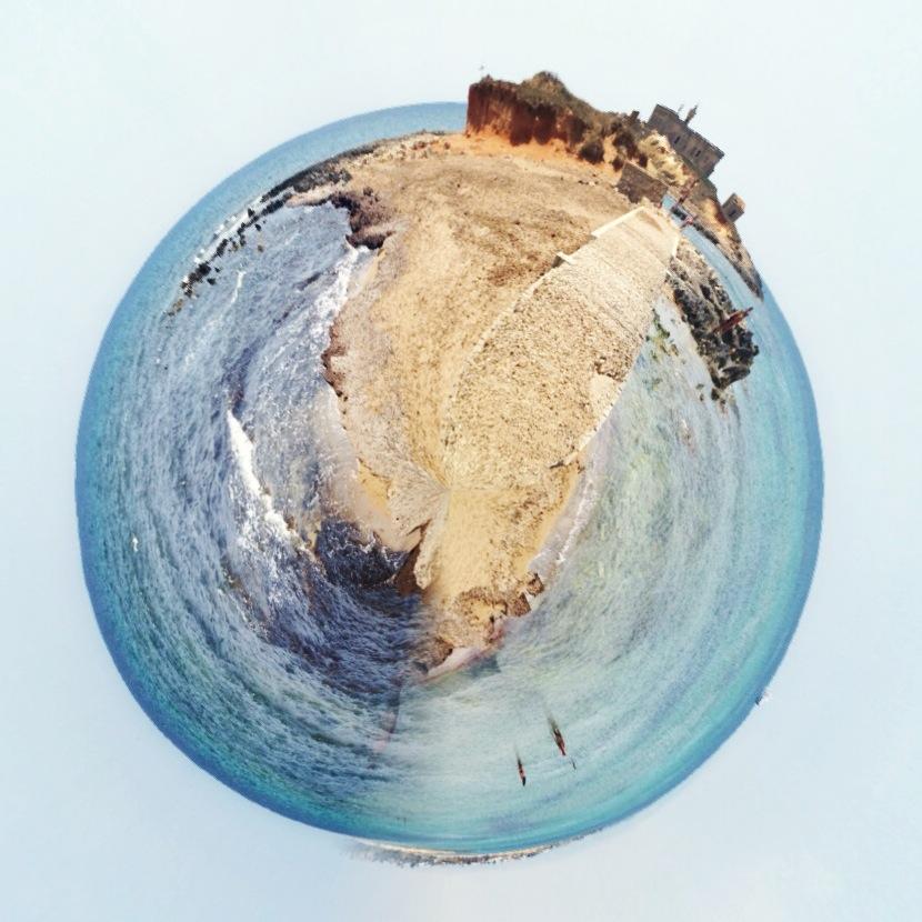 tiny planet, isola delle correnti, faro, portopalo di capopassero, sicilia