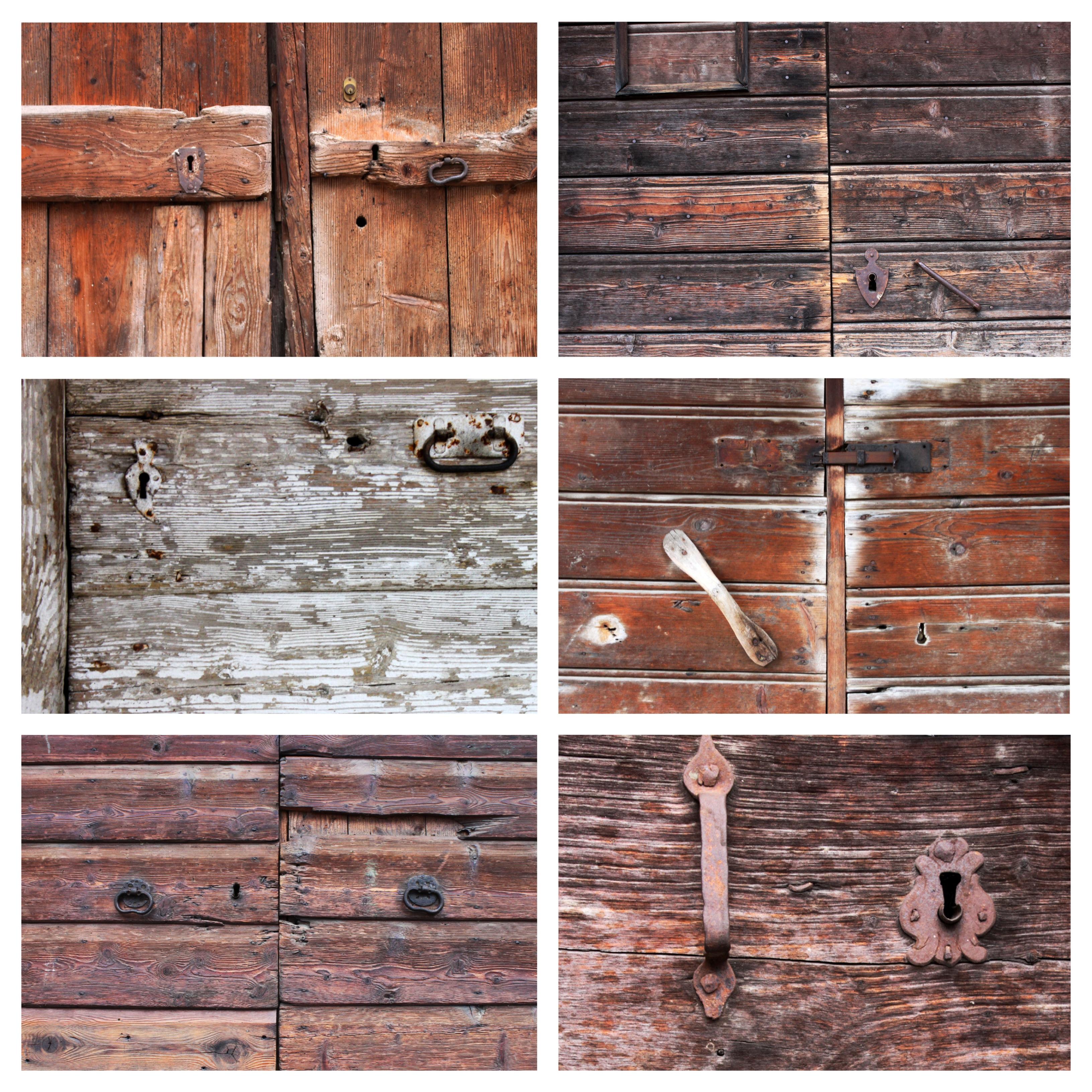 portoni di legno delle vecchie stalle di mezzano, trentino