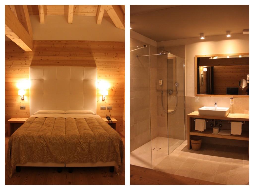 camera da letto hotel costabella moena, passo san pellegrino