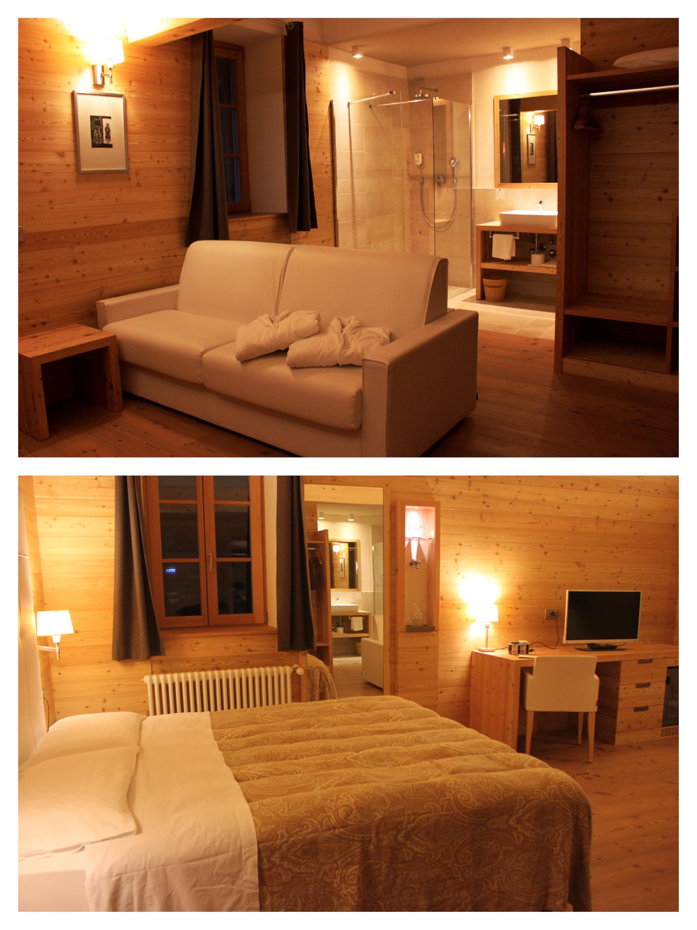 camera da letto hotel costabella moena, passo san pellegrino2