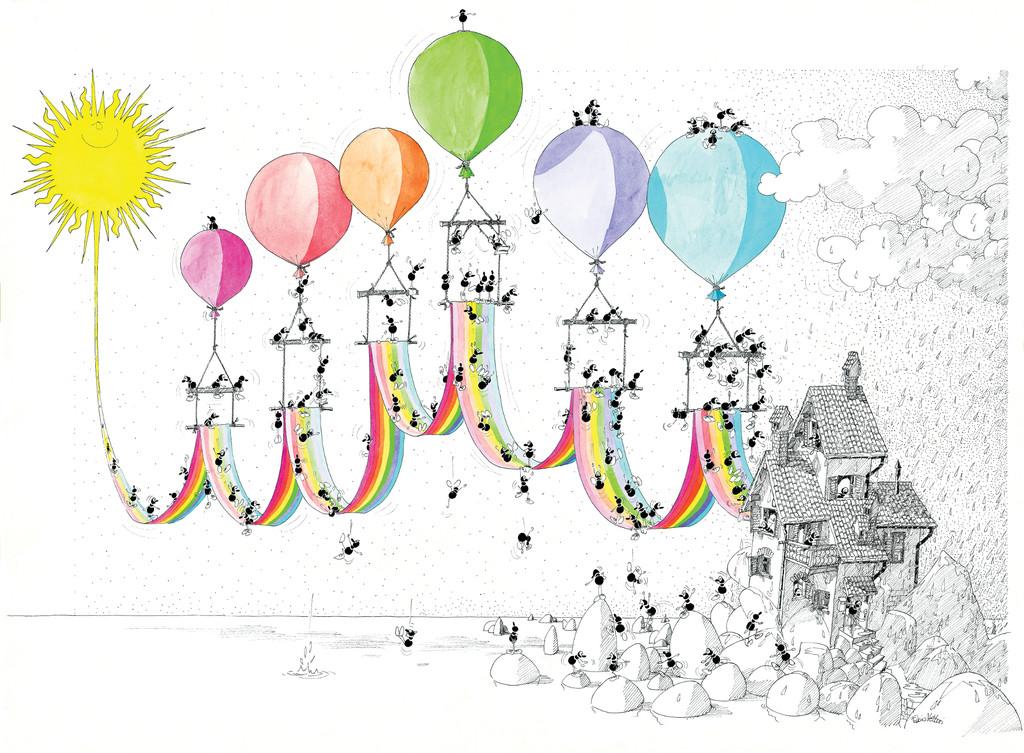 poster arcobaleno fabio vettori