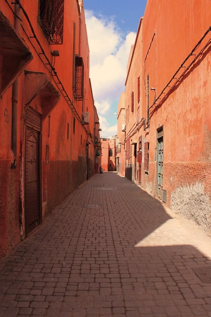 Le stradine della Mellah, quartiere ebraico di Marrakech