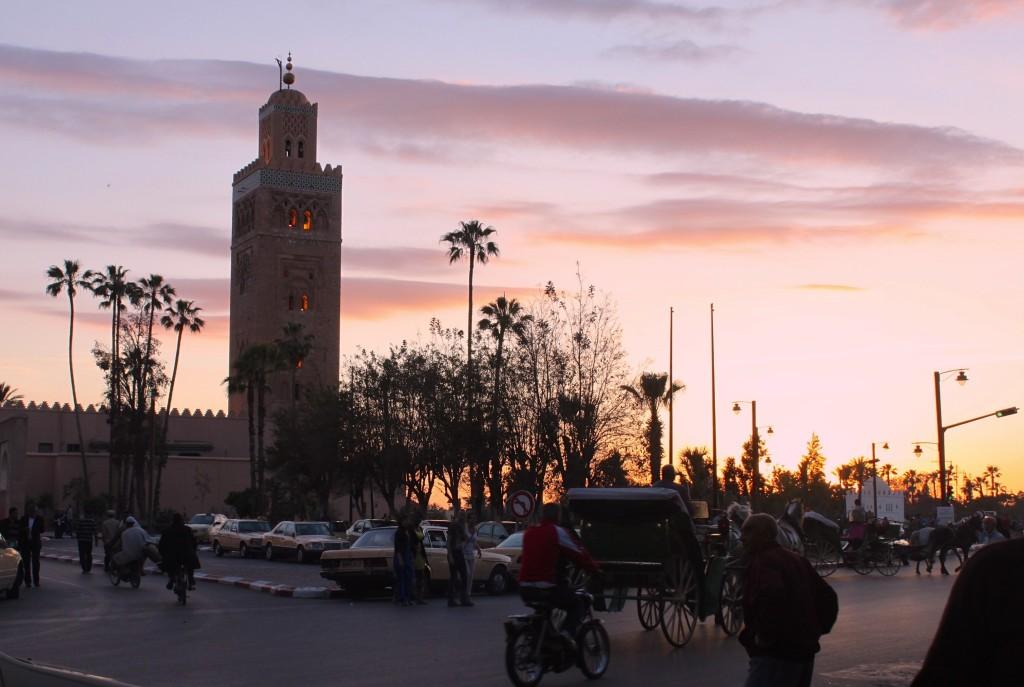 Il minareto della Koutoubia al tramonto