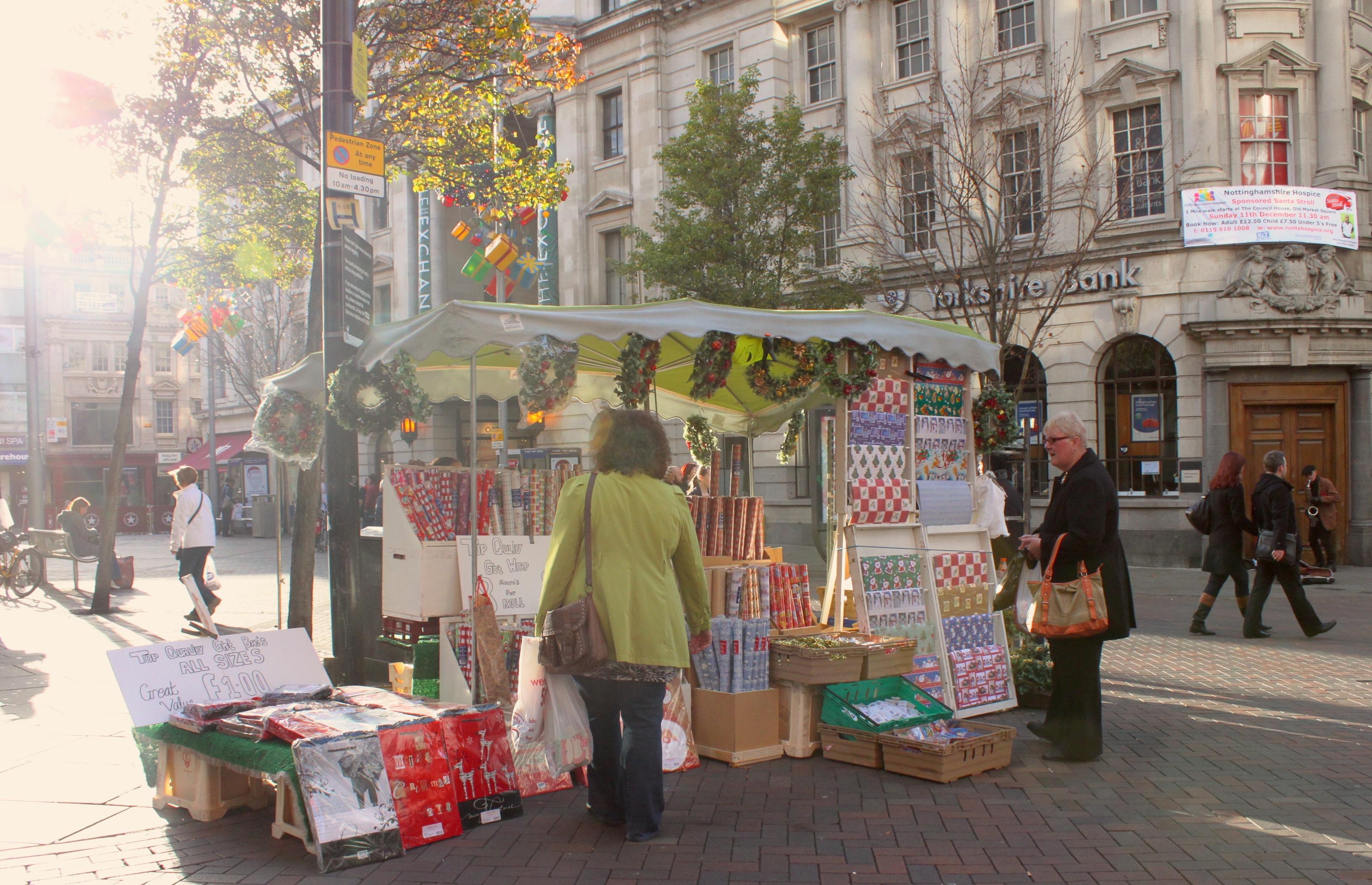 Nel centro di Nottingham a dicembre tutto sa di Natale
