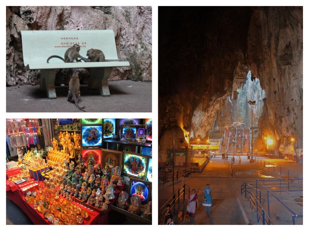 l'interno delle batu caves