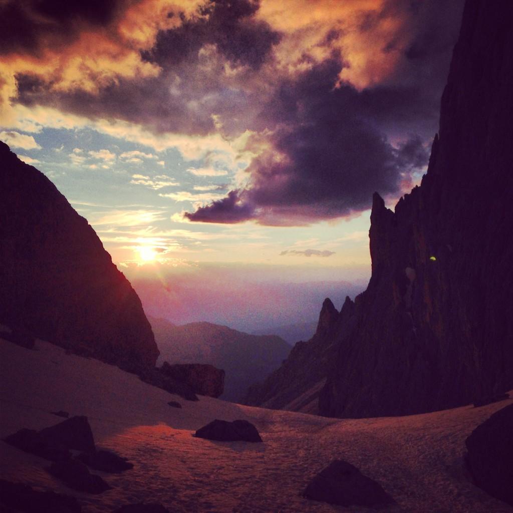 tramonto al passo sella