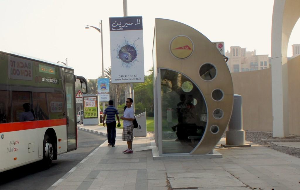 fermate dell'autobus climatizzate a dubai