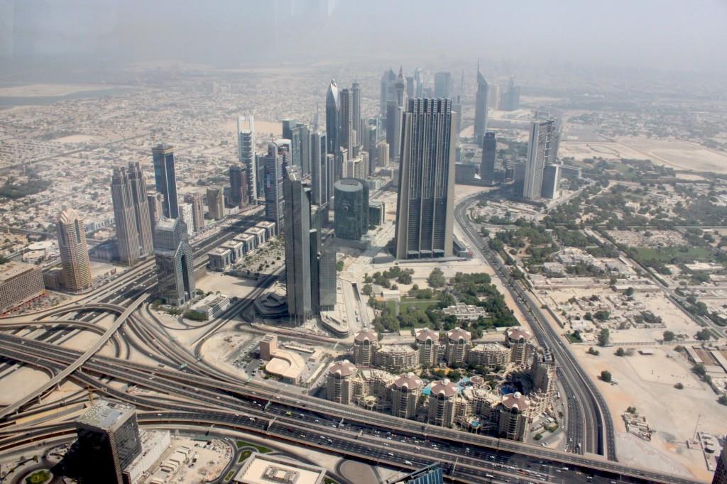 vista di Dubai dal Burj khalifa