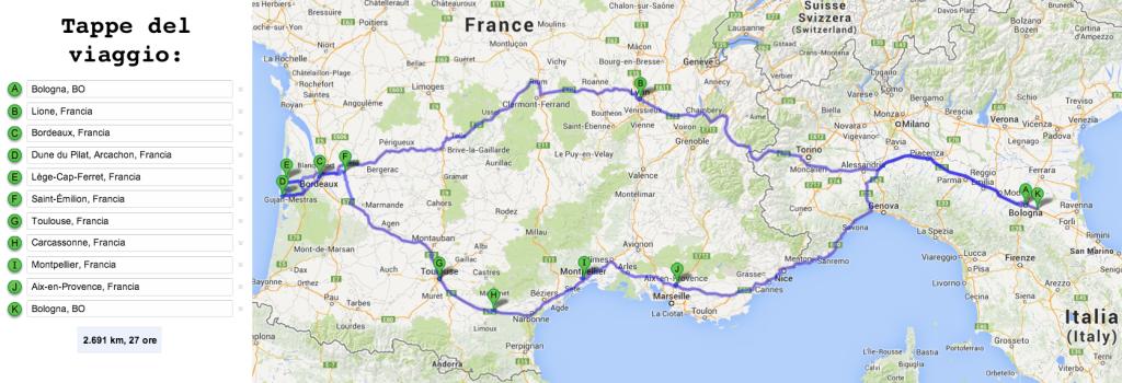 Itinerario di 10 giorni in Francia in auto