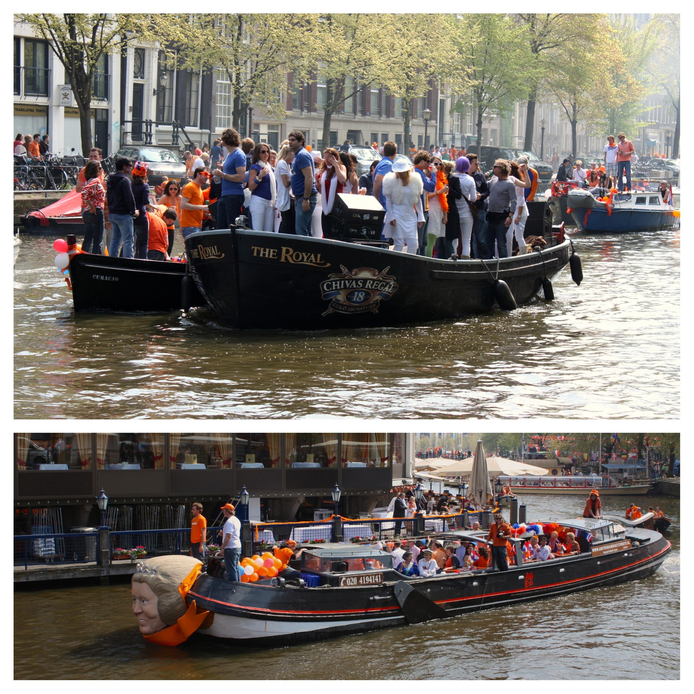 barche per la festa del re amsterdam