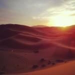 Il deserto del Sahara, Erg Chebbi, all'alba
