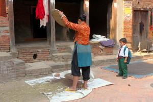 Il lavoro a Bungamati