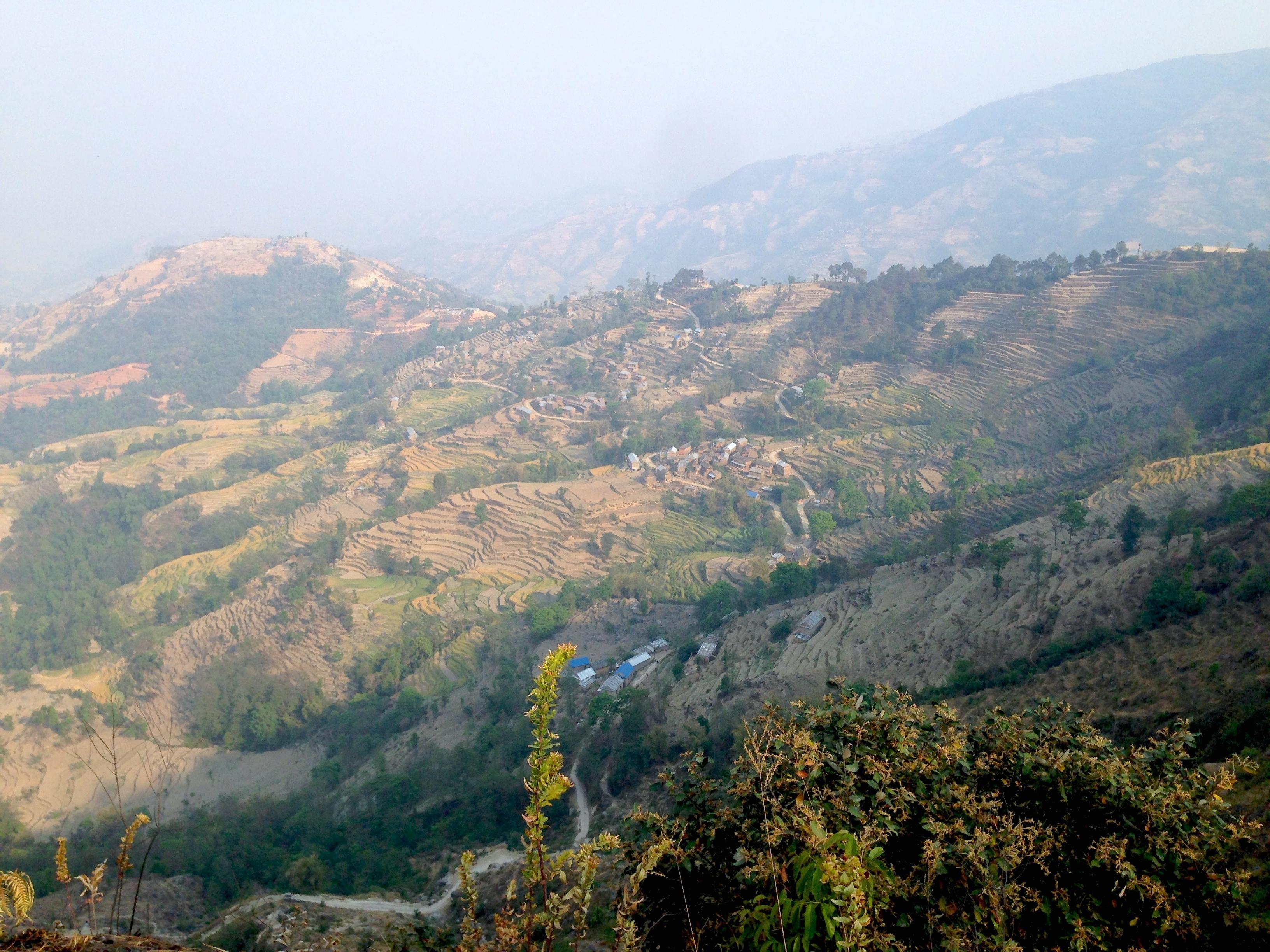 Verso il villaggio Tamang sulla scarpata