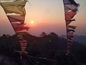 L'alba dalla Tower of Nagarkot