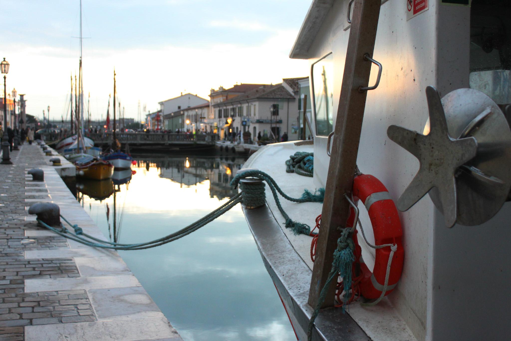 Le barche sul Porto Canale