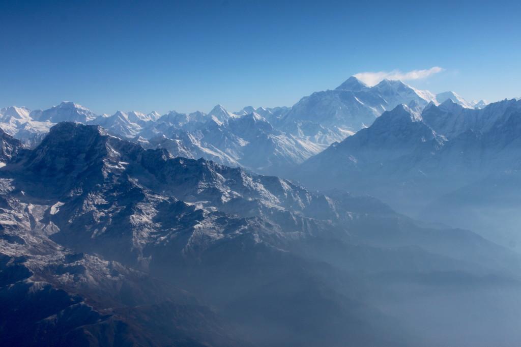 Il volo sull'Himalaya e sull'Everest.