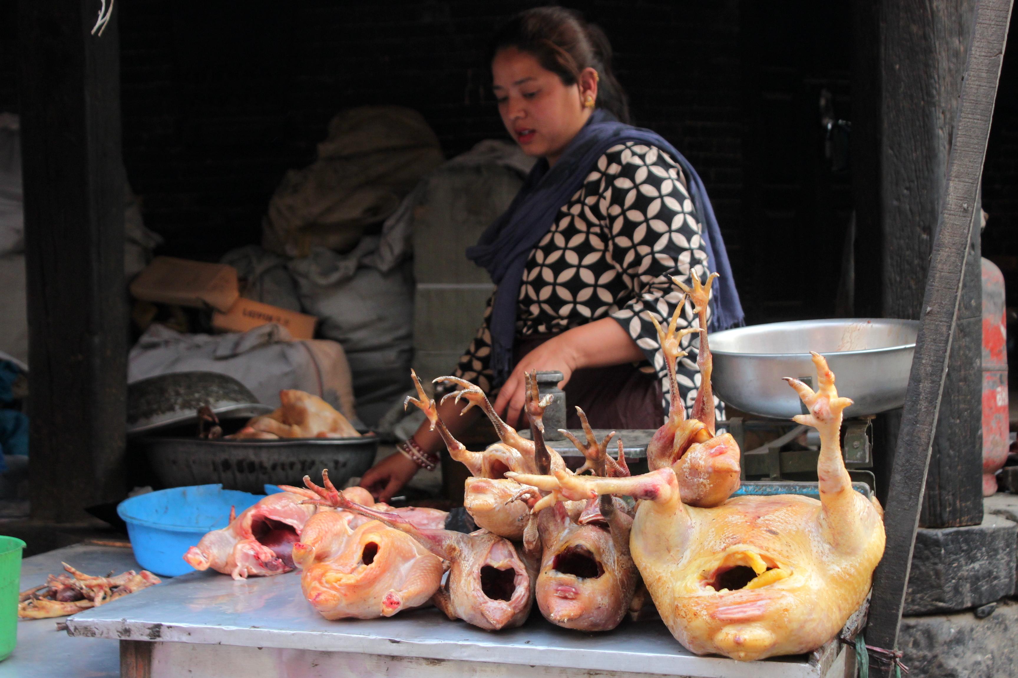 Il mercato alimentare proprio dietro la Durbar Square di Patan