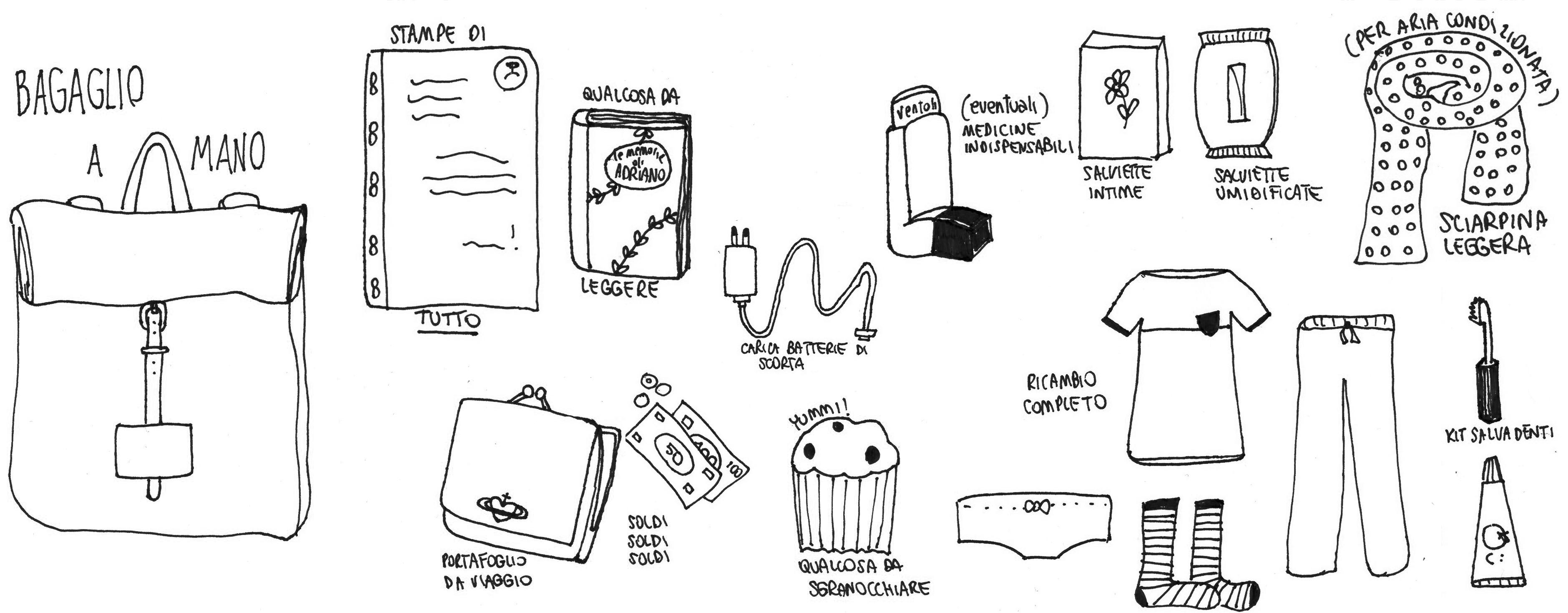 Cosa mettere in valigia liste scaricabili illustrazioni - Si puo portare il phon nel bagaglio a mano ...