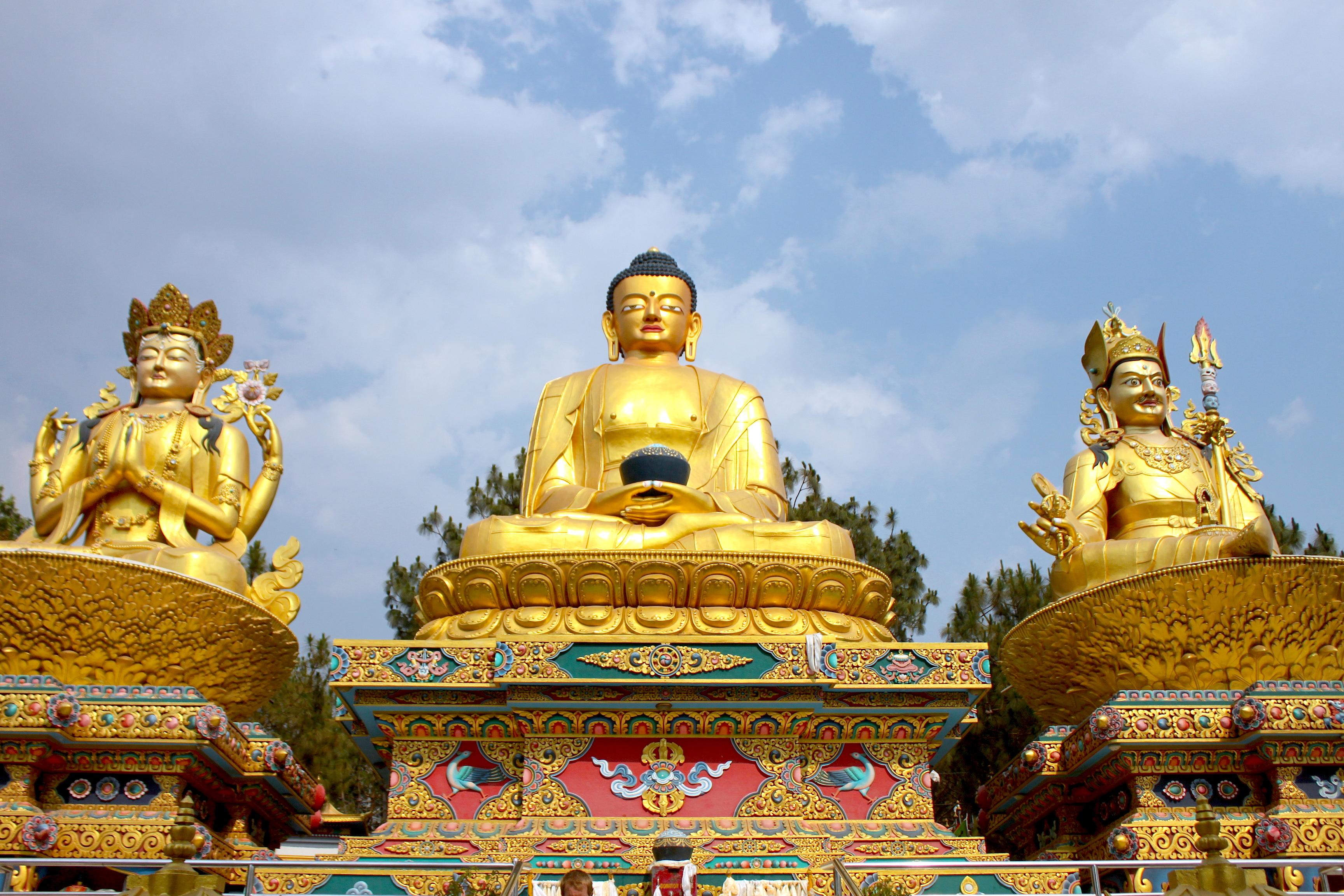 Il Tempio di Swayambhunath a valle