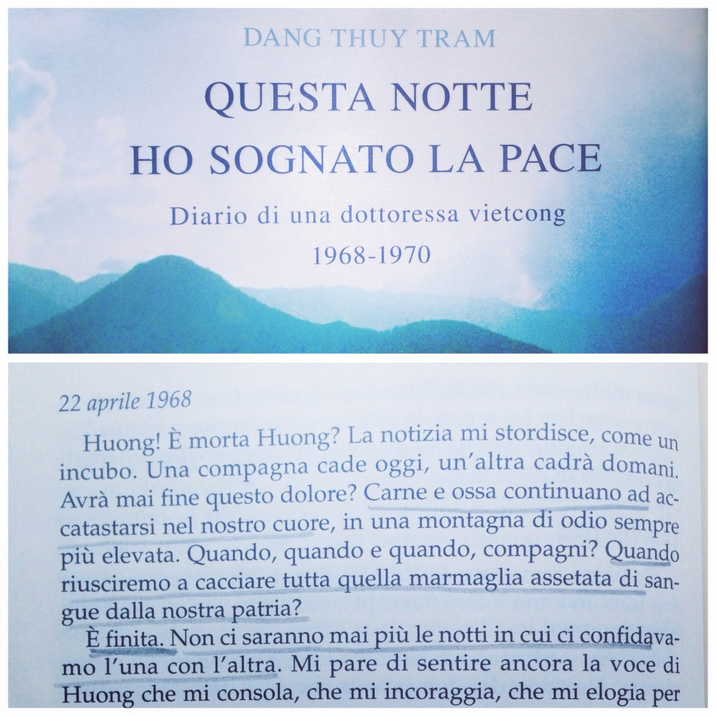 Questa notte ho sognato la pace, Dang Thuy Tram, diario di una dottoressa vietcong, libro sul vietnam