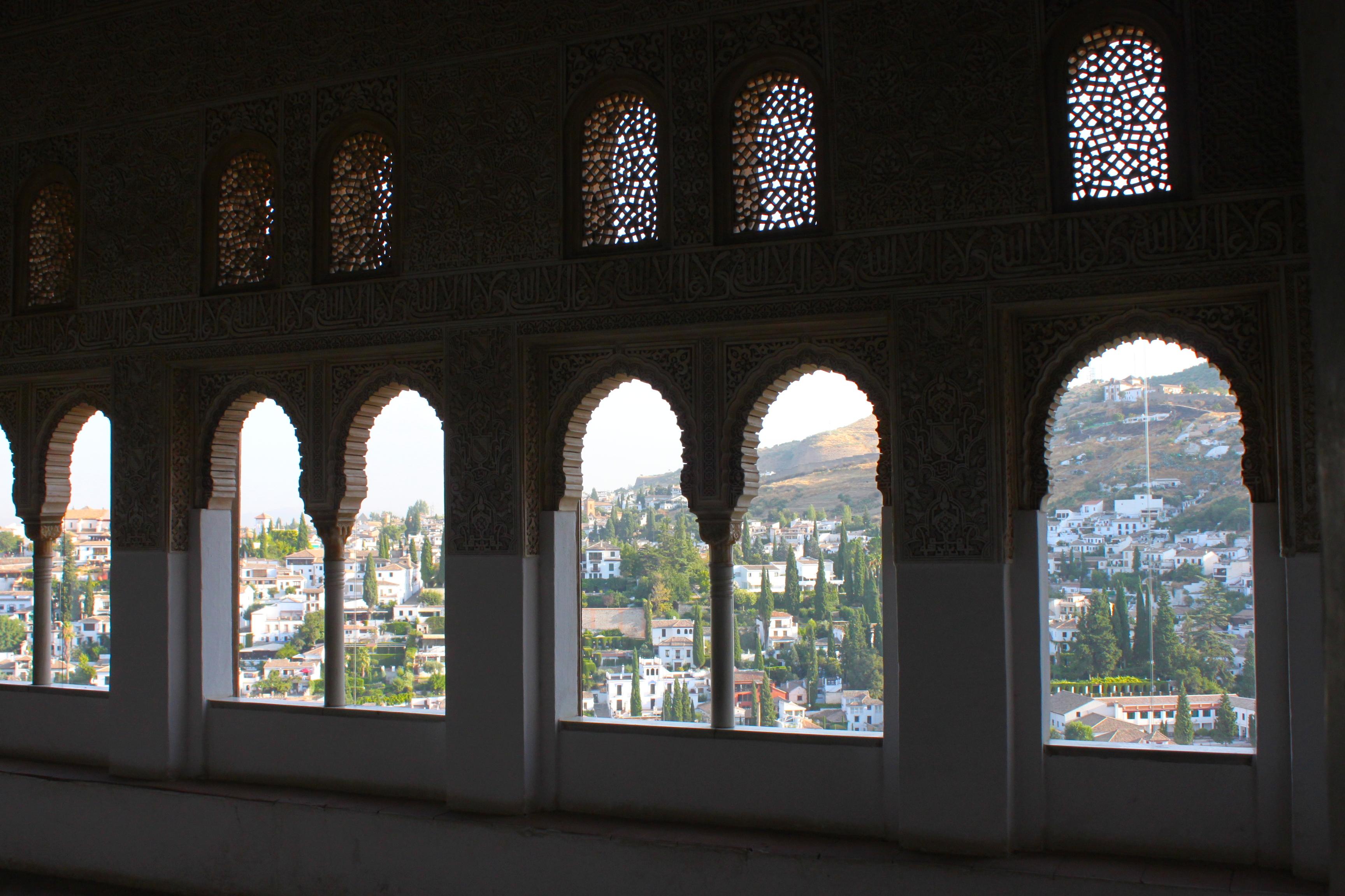 Le casine di Granada da dentro l'Alhambra