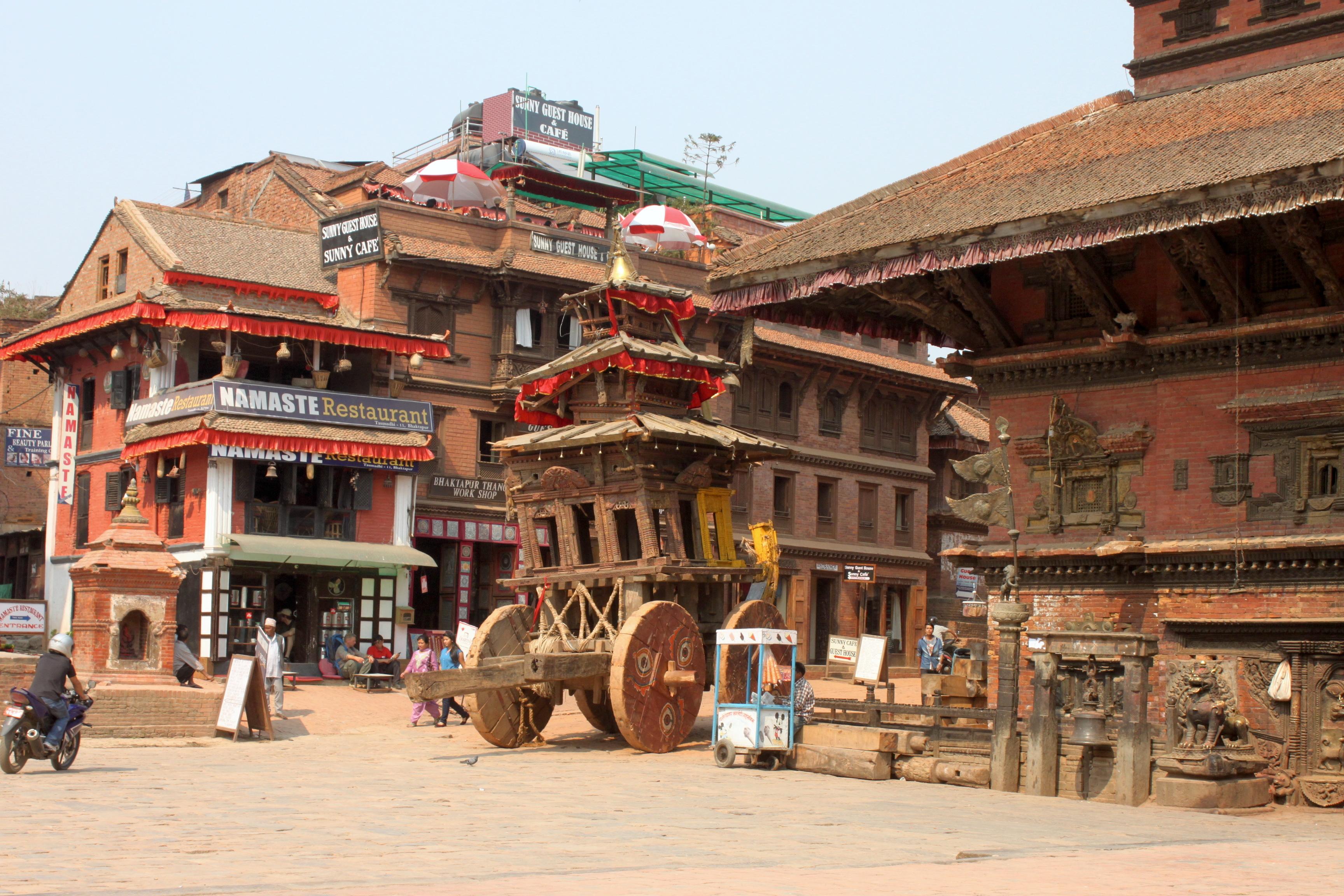 Il carro per festeggiare il Bisket Jatra, il capodanno nepalese