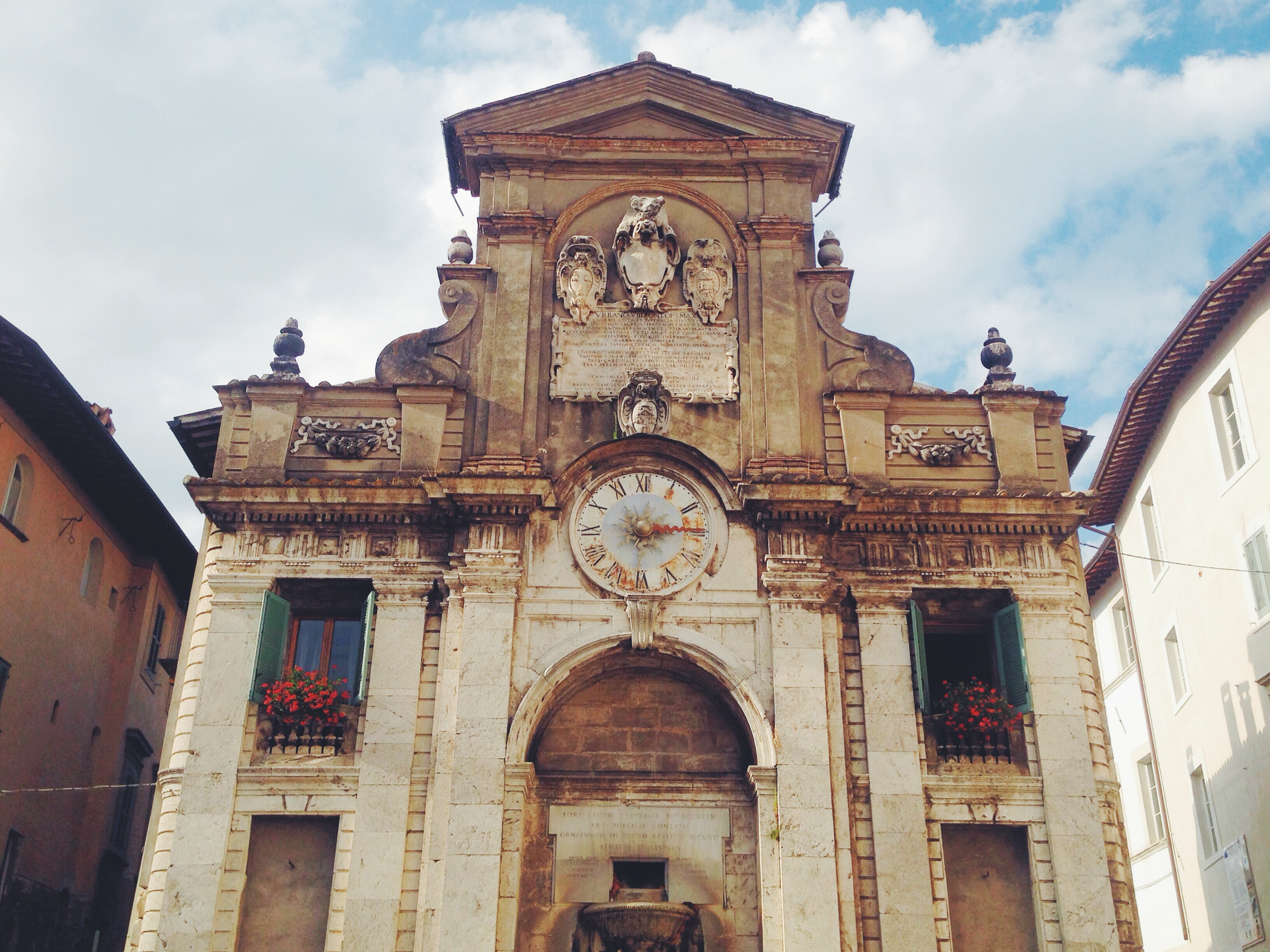 La fontana di Piazza del Mercato a Spoleto prima era la chiesa di San Donato