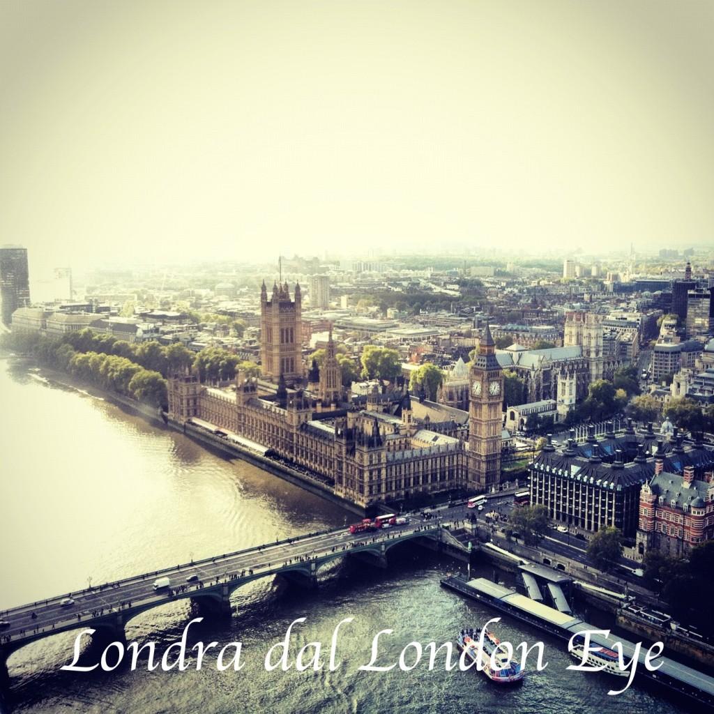 londra dal london eye, come peter pan
