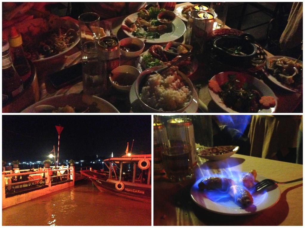 Cena sul Delta del Mekong