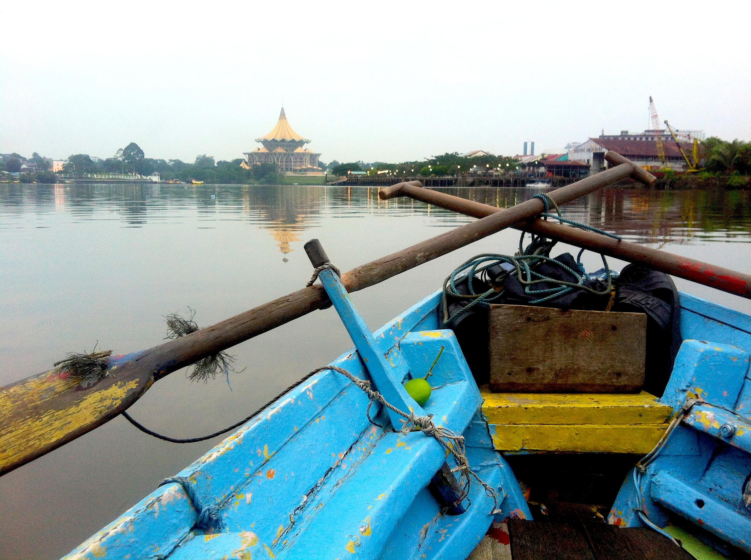 Dalla nostra barchina sul fiume Santubong