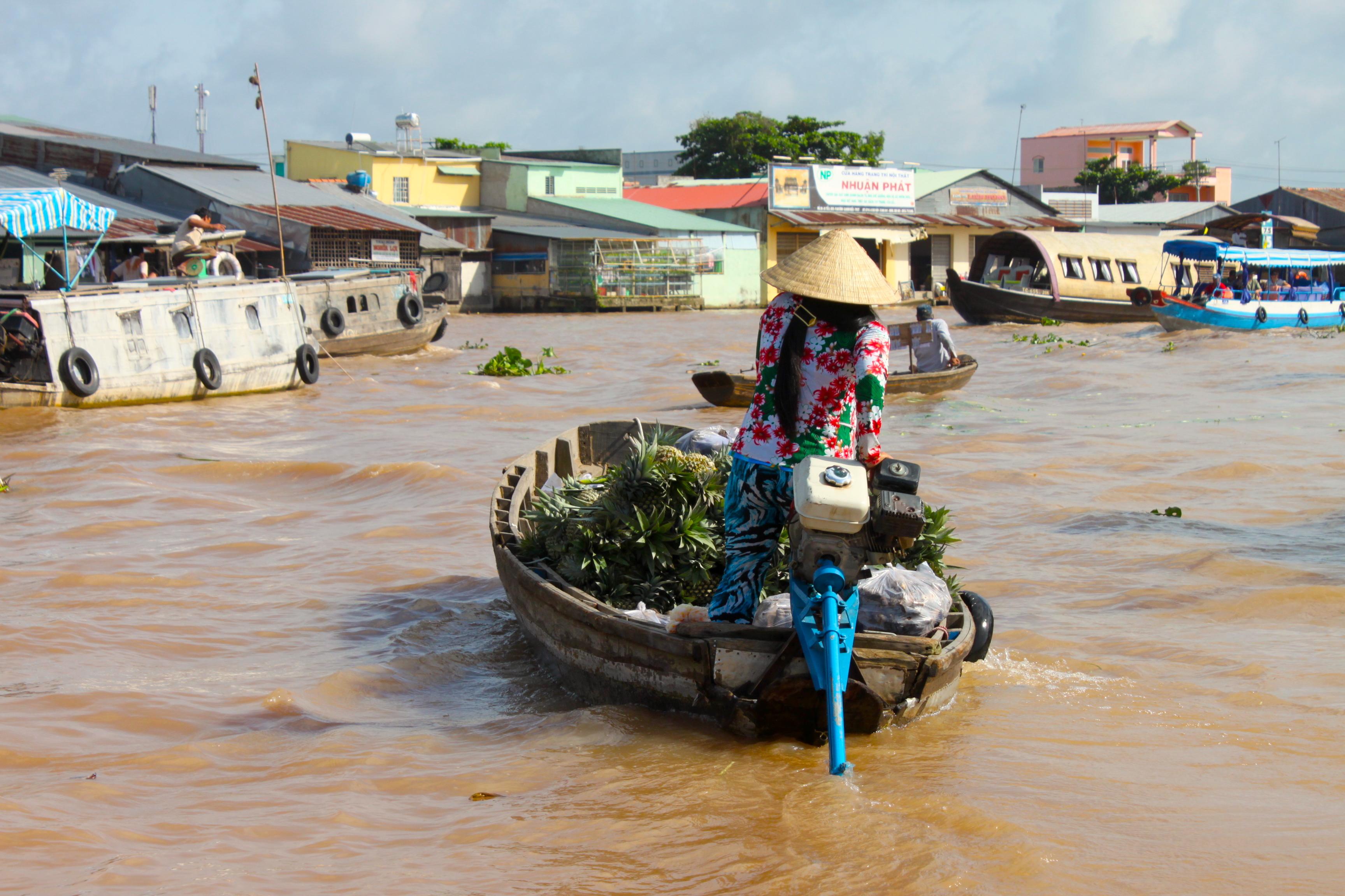 Floating market sul Delta del Mekong
