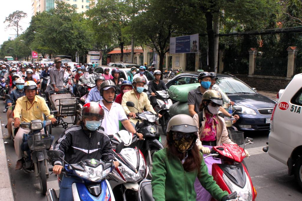 I motorini a Ho Chi Minh City