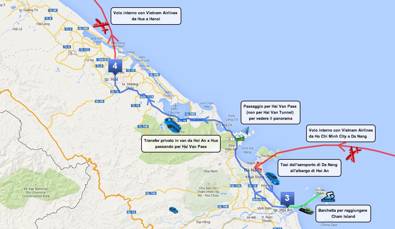 Itinerario Vietnam centrale