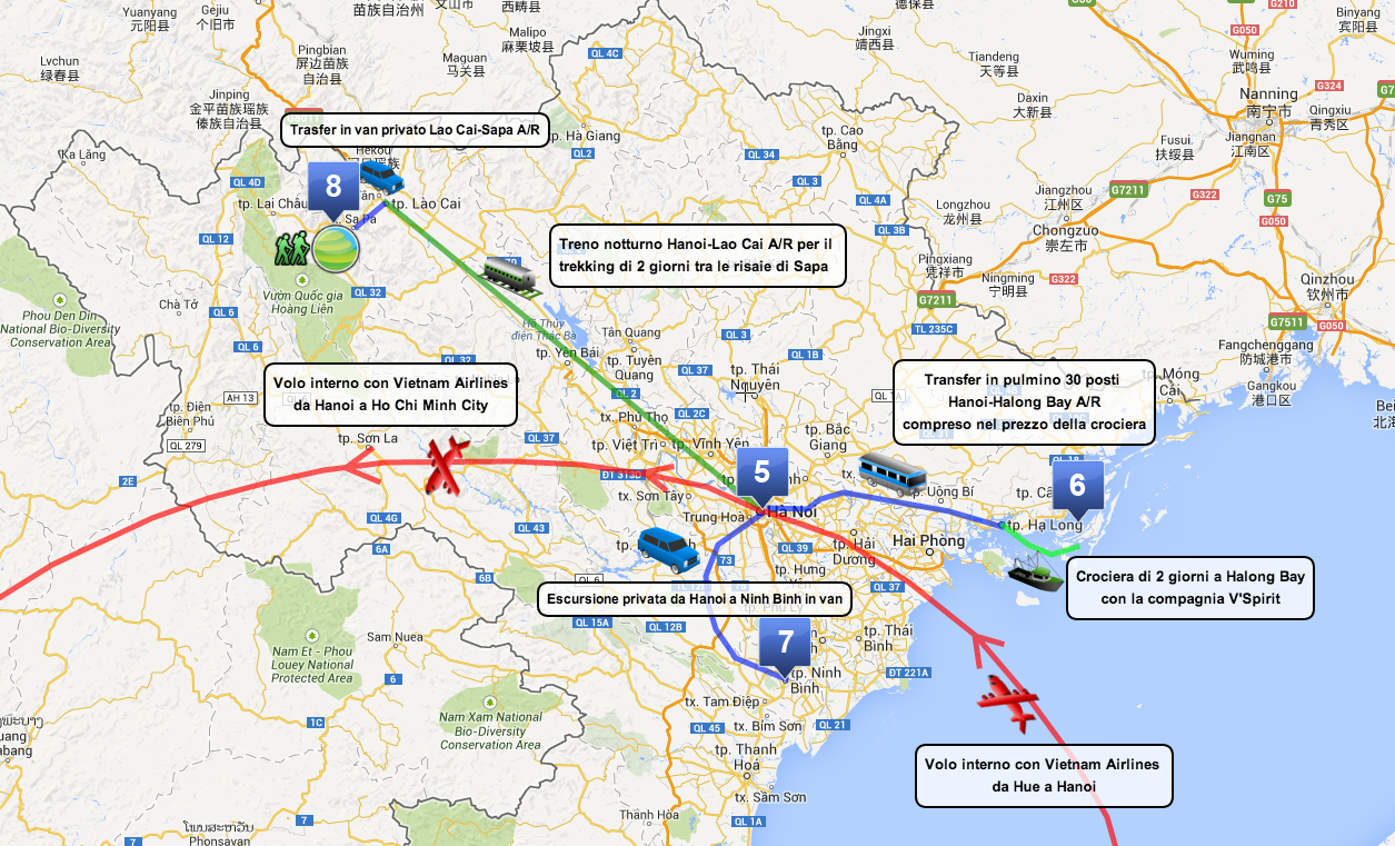 Itinerario Vietnam del Nord