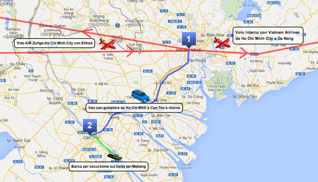 Itinerario Vietnam del Sud