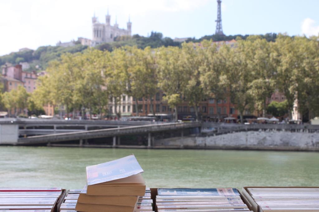 Mercatino di libri usati sul fiume