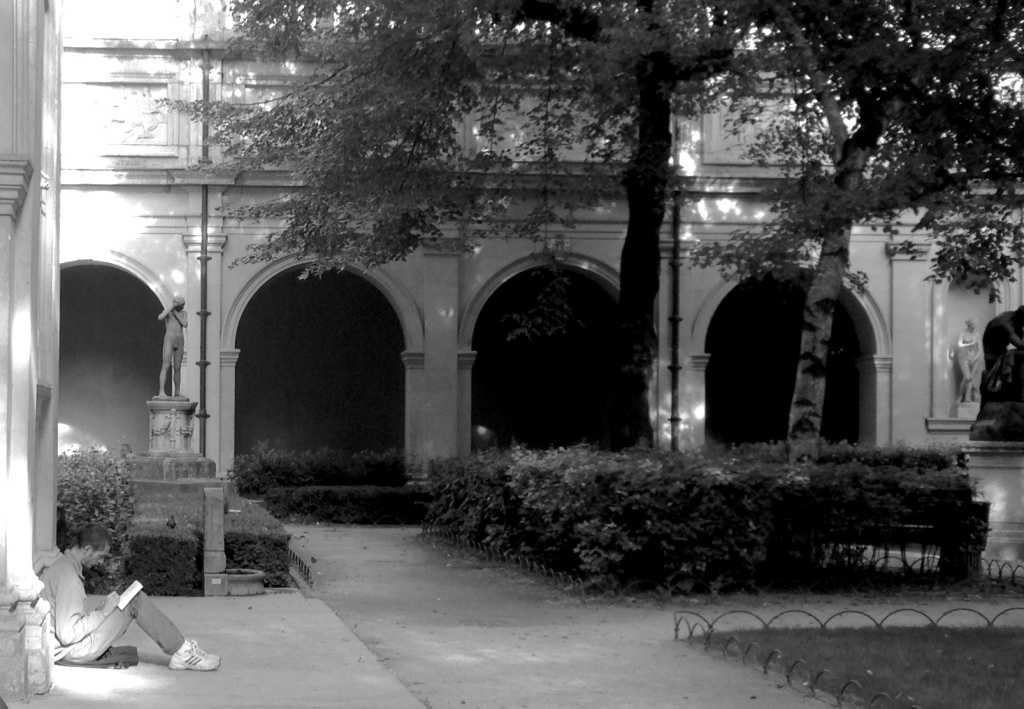 Nei cortili dell'Università di Lione