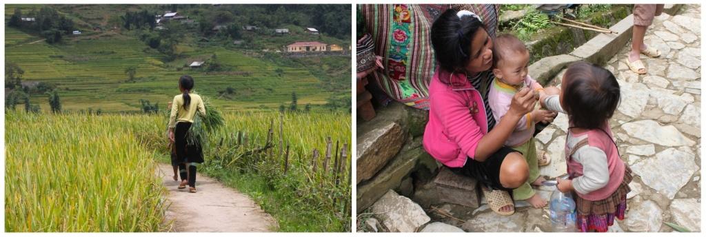 Donne da sole in Vietnam e famiglie con bambini