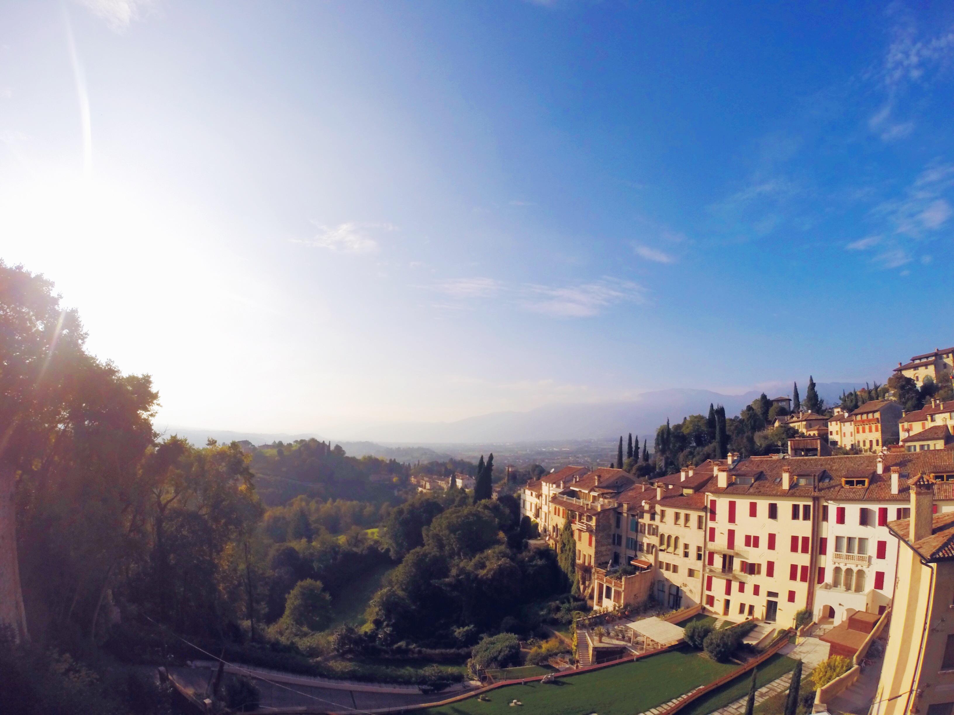 La vista dal balconcino panoramico del Castello di Asolo