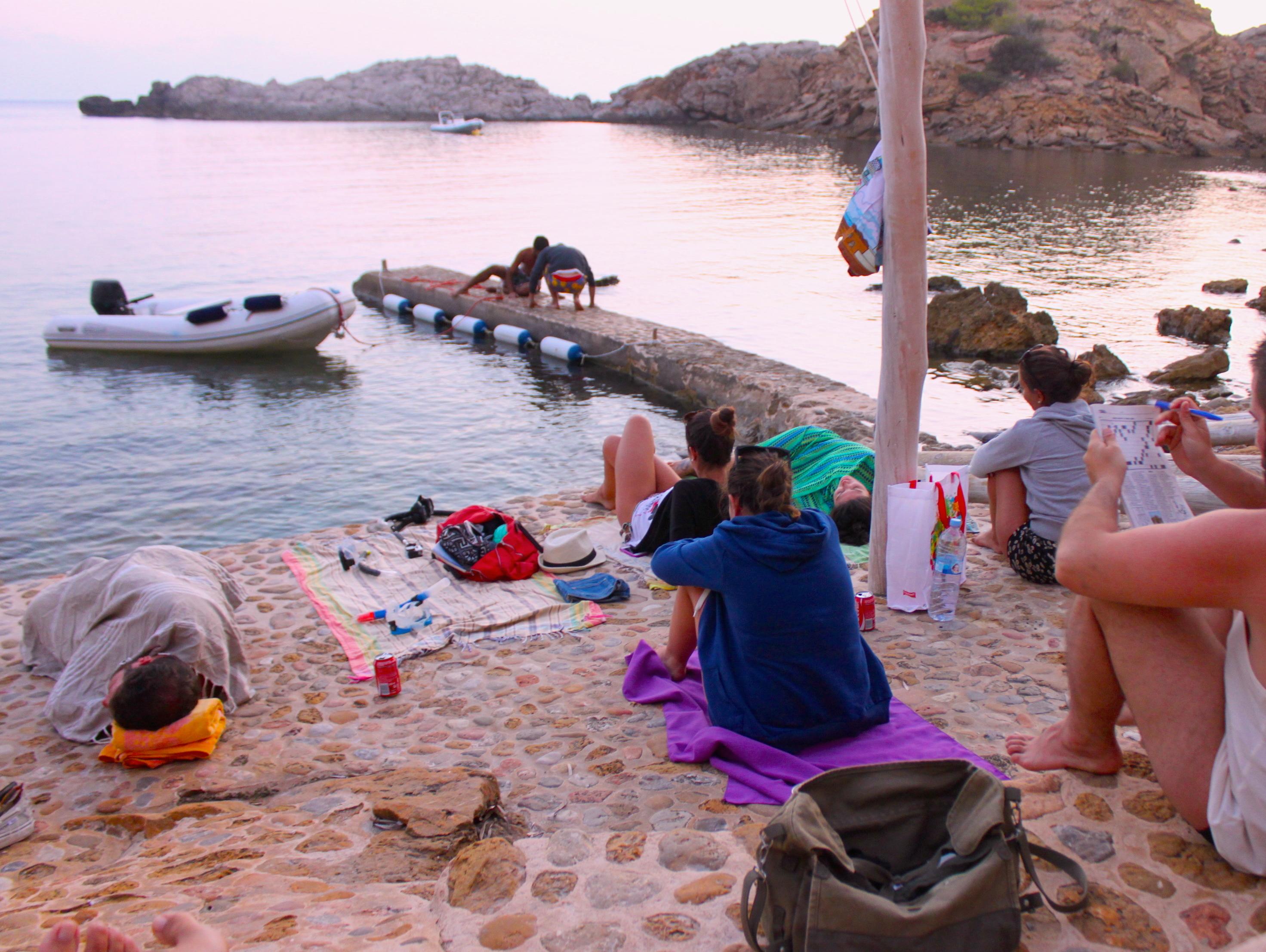 Relax prima del tramonto, ultimo giorno