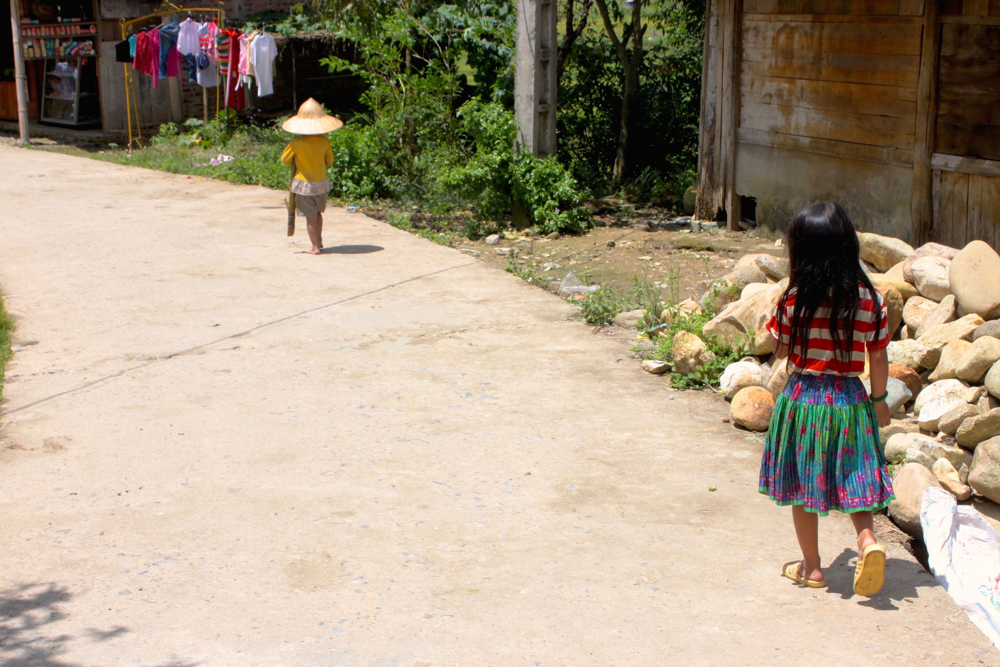 Villaggio di Lao Chai, disperso in mezzo alle risaie, a ore di cammino dal primo paese vero