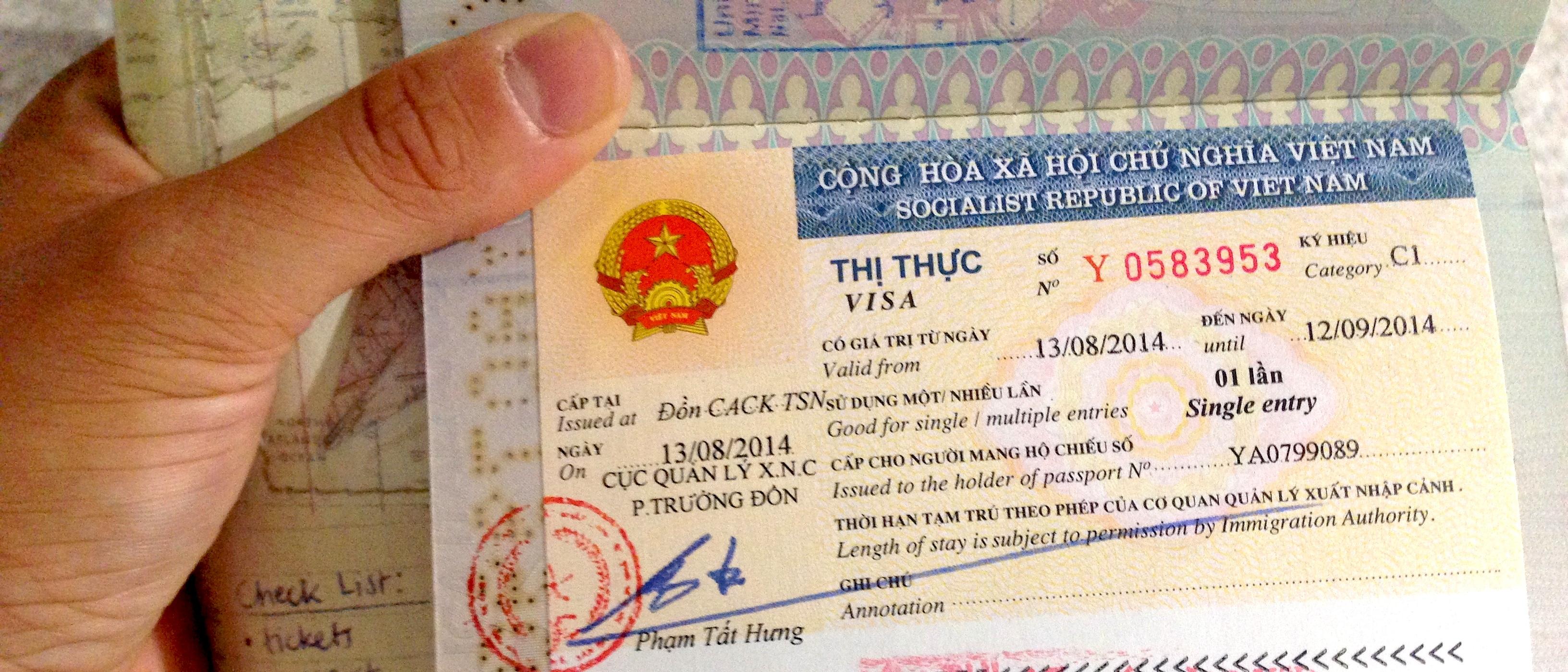 Visto Vietnam, visa on arrival